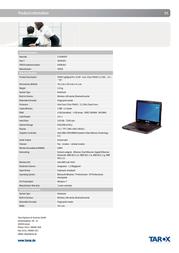 Tarox 0906262 User Manual