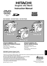 Hitachi DZ-MV780A Manual Do Proprietário