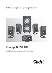 Teufel Concept G 850 102218001 User Manual