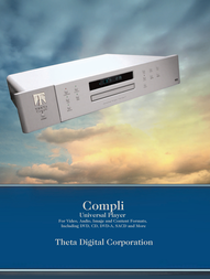 Theta Digital Universal Player Compli Leaflet