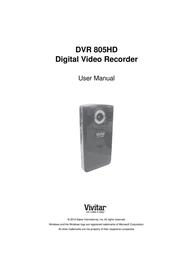 Vivitar DVR 805HD User Manual