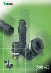 Binder 99-9215-00-05 Series 620 Sub Miniature Circular Connector Nominal current: 2 A Number of pins: 5 99-9215-00-05 Data Sheet