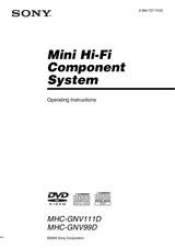 Sony Mhc Gnv111d User Manual Page 1 Of 108 Manualsbrain Com