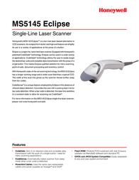 Metrologic MS5145 Eclipse MK5145-41/IRX Leaflet