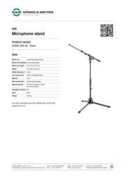 König & Meyer 259 25900-300-55 Leaflet
