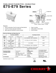Cherry Switches N/A F79-00A DPDT-CO F79-00A Data Sheet
