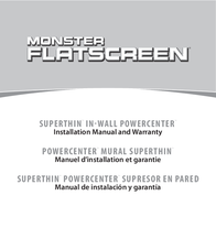 Monster FlatScreen SuperThin In-Wall PowerCenter 200 User Manual