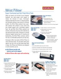 Acco Ken Keyboard Gel blk Wrist Pillow 62083 Leaflet