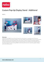 Nobo Pop-Up Display Stand 1901713 Leaflet