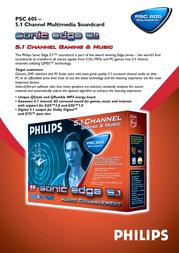 Philips PSC 605 PSC605 Leaflet