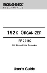 Rolodex 192K RF-22192 User Manual