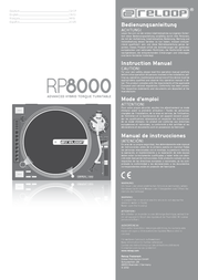 Reloop DJ Turntable RP-8000 Straight RP-8000 Straight Data Sheet