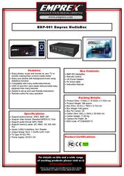 Emprex BMP-001 BMP001 Leaflet