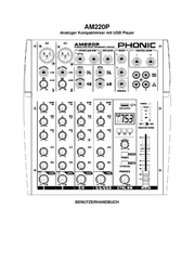 Phonic Am220p Compact Mixer AM220P Data Sheet