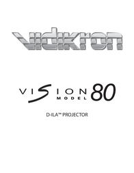 Vidikron D-ILA 80 User Manual