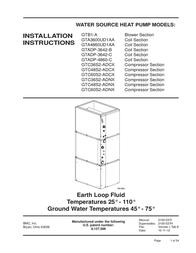 BMC Heat Pump GTA3600UD1AA User Manual