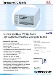 Freecom TapeWare LTO 230i 15501 Leaflet