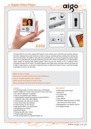 Aigo E858 2Gb MP4 Personal Music Player E858-2GB Leaflet