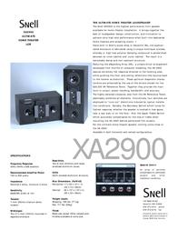 Snell Acoustics XA2900 Leaflet
