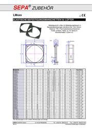 Sepa 954070210 LM40A1 (W x H x D) 43 x 43 x 5.25 mm 954070210 Data Sheet