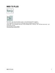 Hagor MIDI 75 PLUS Leaflet