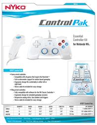 Nyko Control Pak 87077 Leaflet