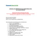 Panasonic Arbitrator 360 Release Note