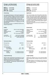 Xbk Kabel NYY-J-RE NYY-0 NYY-J-RE Data Sheet