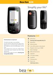 Beafon S50 Leaflet