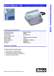 Ibico ibiMaster 100 IB270086 Leaflet