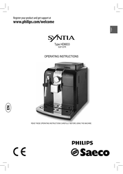 Saeco Super-automatic espresso machine HD8833/19 HD8833/19 User Manual