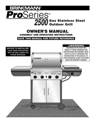 Brinkmann PROSERIES Pro Series 2500 User Manual