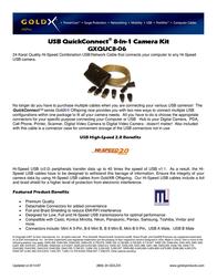 Offspring Technologies GXQUC8-06 8 in 1 Camera Kit GXQUC8-06 Leaflet