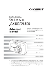 Olympus µ DIGITAL 500 Reference Manual