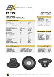 ESX Xenium XE-124 ESX-XE124 Leaflet