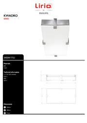 Lirio by Philips KWADRO 34504/17/LI Leaflet