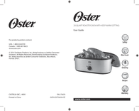 Oster CKSTRS20-SBC - Instruction Booklet Instruction Manual