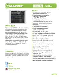 Mackie 1402VLZ4 User Manual