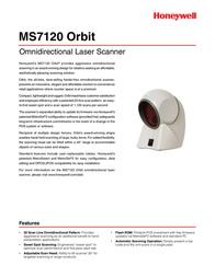 Metrologic MS7120 Orbit MK7120-71A38 Leaflet