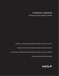 Wolf ICBWWD30 User Manual