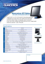 Glancetron GT15plus GT15PLUS Leaflet