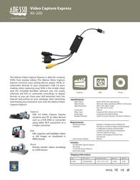Adesso AV-200 Leaflet