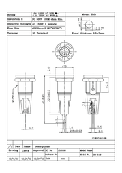 Sci Fuse holder Suitable for Micro fuse 5 x 20 mm 6.3 A 250 Vac R3-54B 1 pc(s) R3-54B Data Sheet