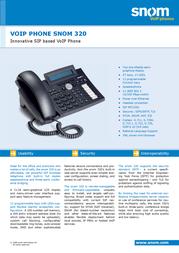 Snom 320 VOIP Phone 1948 Leaflet