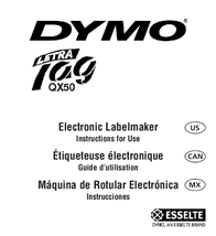Esselte LECTRA TAG QX50 User Manual
