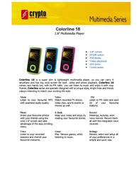 Crypto Colorline 18 4GB W002431 Leaflet