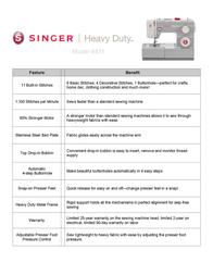 SINGER HD 4411 Leaflet