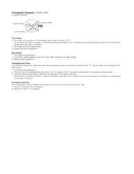 Fossil ch2628 Supplementary Manual
