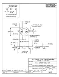 Keystone , CR1616, CR1620, CR1632 Coin Cell Holder, SMT 3012 Data Sheet