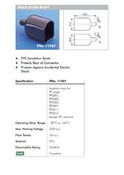 Eska Bulgin Protective cap 11987 Black 1 pc(s) 11987 Data Sheet